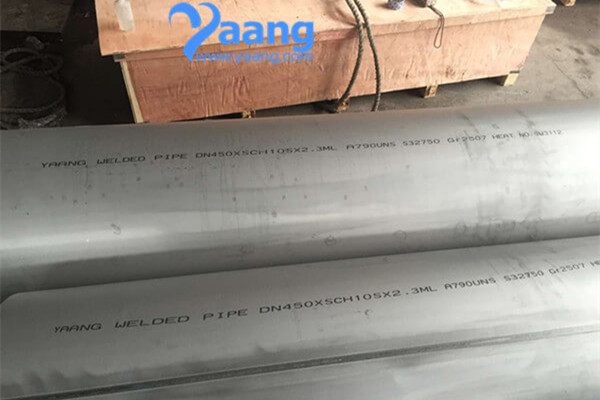A790 UNS32750 GR2507 Welded Pipe 18 Inch SCH10S