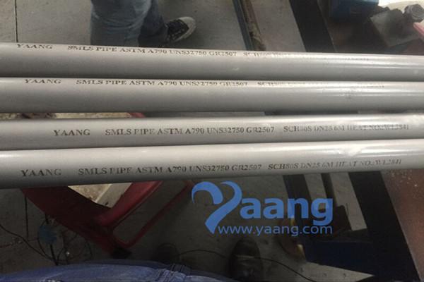ASTM A790 UNS S32750 GR2507 Super Duplex Seamless Pipe 1 Inch SCH80S