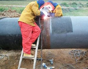 Welding and flange connection - What is a spiral steel pipe?