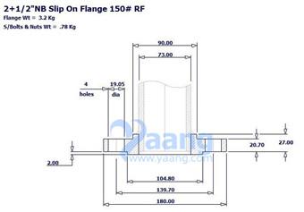 201896922113207538 - ASME B16.5 A182 F304 SORF Flange DN65 150#