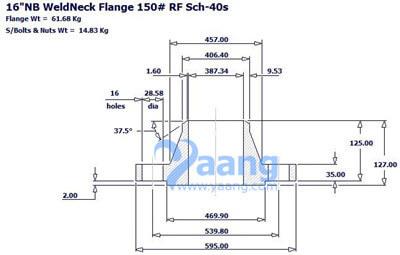 "20181292143321634021 - ANSI B16.5 A182 F316L Welding Neck Flange RF 16"" CL150"