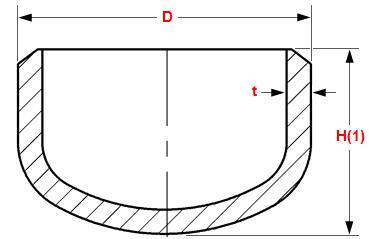 20180507143747 26687 - ASME B16.9 ASTM A403 316L Pipe Cap DN100 Sch40S