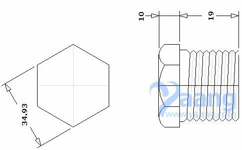 20190525231901 73189 - ASME B16.11 ASTM A182 EN 1.4404 Threaded Hex Head Plug DN25 CL3000
