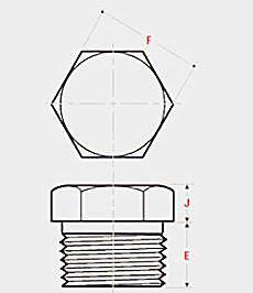 20195251720213387164 - ASME B16.11 ASTM A182 EN 1.4404 Threaded Hex Head Plug DN25 CL3000
