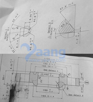 "20191110215623 57822 - ANSI B16.5 ASTM A182 F310S Slip On Ring Type Joint Flange 1-1/2"" CL600"