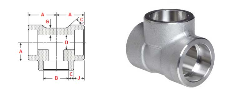 socket weld tee dimensions - ASME B16.11 A182 Grade 1.4410 Socket Weld Forged Tee 2 Inch 3000LB