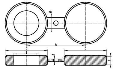 "20200222024511 80980 - ASME B16.48 A182 F304L Spectacle Blind Flange Raised Face 2"" CL300"