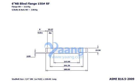 "201888204561529376 - ASME B16.5 A182 1.4541 Blind Flange RF 6"" 150#"