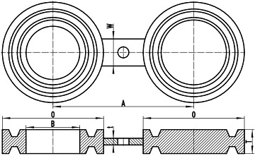 "asme b16.48 fig 8 bl frtj 1 - ASME B16.48 A182 UNS S31600 Spectacle Blind Flange Ring-Type Joint 4"" CL1500"